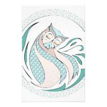 Owl Illustration - Owl Illustration Stationery