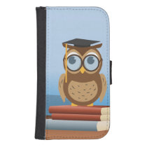 Owl illustration phone wallet