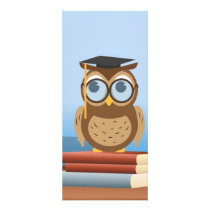 Owl illustration rack card