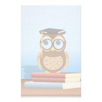 Owl illustration stationery