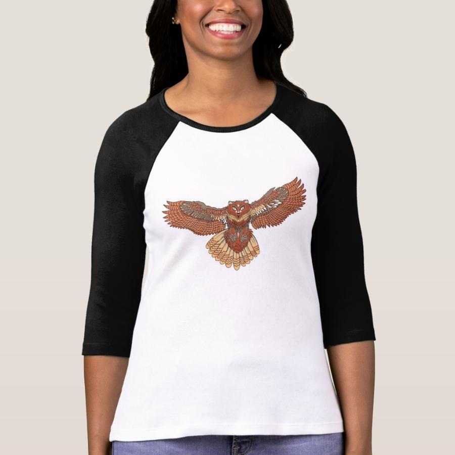 Owl Illustration T-Shirt - Best Selling Long-Sleeve Street Fashion Shirt Designs
