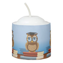 Owl illustration votive candle