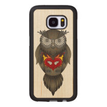 Owl Illustration Wood Samsung Galaxy S7 Case