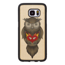 Owl Illustration Wood Samsung Galaxy S7 Edge Case