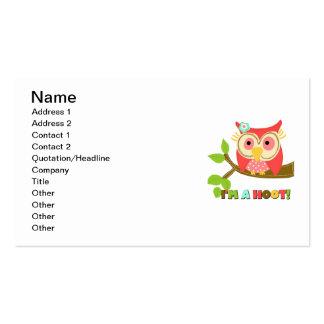 Owl I'm a Hoot Business Card