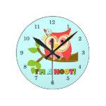 Owl I'm a Hoot Clock