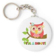 Owl I'm a Hoot Keychain