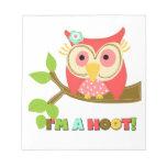 Owl I'm a Hoot Memo Pads