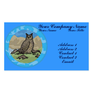 Owl in a Circle Business Card Template