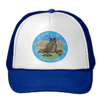 Owl in a Circle Trucker Hat