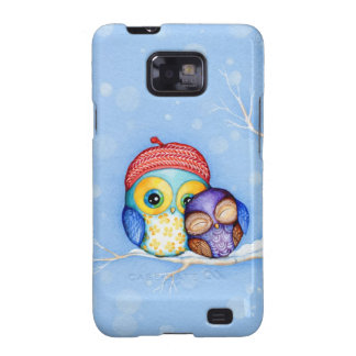 Owl in a Little Red Beret Galaxy S2 Case