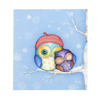 Owl in a Little Red Beret Note Pad