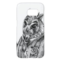 Owl in a suit samsung galaxy s7 case