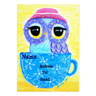 Owl In A Teacup Large Business Cards (Pack Of 100)