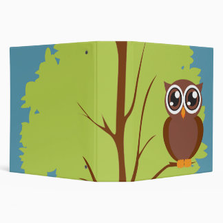 owl in a tree notebook 3 ring binder