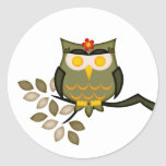 Owl in a tree Sticker