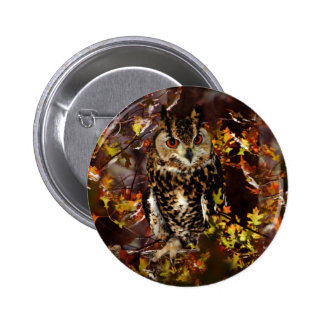 Owl in Autumn Buttons