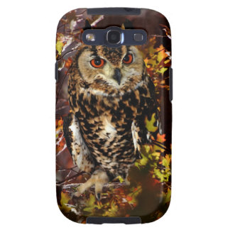Owl in Autumn Galaxy SIII Covers