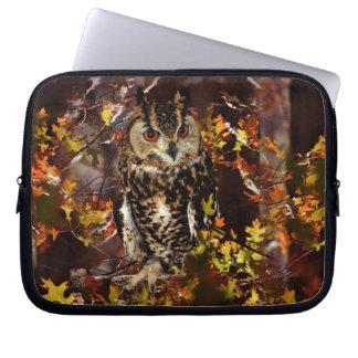 Owl in Autumn Laptop Sleeves