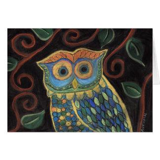 Owl in Bloom-Greeting Card