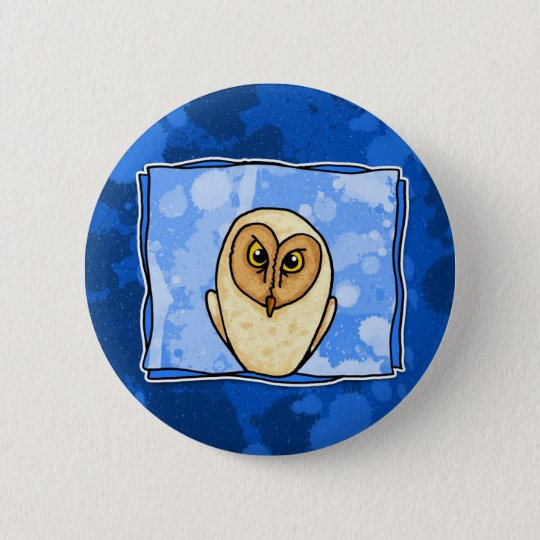 owl in blue button