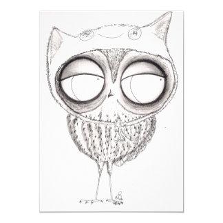 Owl in Cat Hat Card