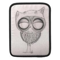 Owl in Cat-Hat- macbook Rickshaw Sleeve