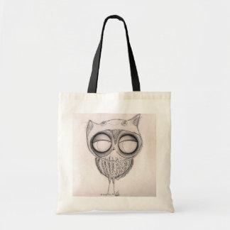 Owl in Cat-Hat - Tote Bag