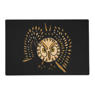Owl in Flight Abstract Art Placemat
