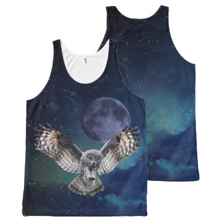 Owl in Flight All-Over-Print Tank Top