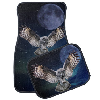 Owl in Flight Car Floor Mat