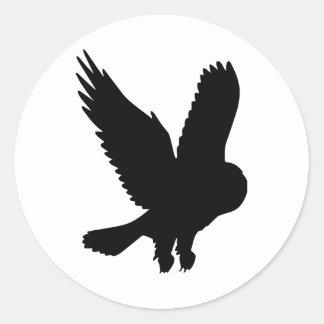 Owl in Flight Classic Round Sticker