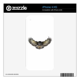 Owl in Flight Decals For The iPhone 4S