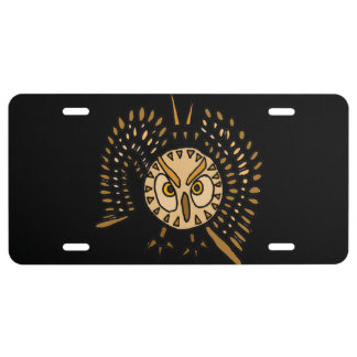 Owl in Flight Front License Plate