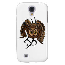 Owl in Flight Galaxy S4 Cover