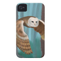 Owl in Flight iPhone 4 Case-Mate Case