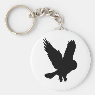 Owl in Flight Key Chain