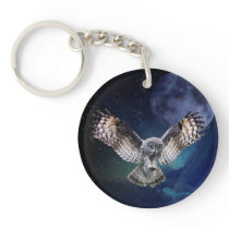 Owl in Flight Keychain