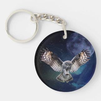 Owl in Flight Keychain