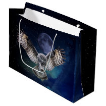 Owl in Flight Large Gift Bag