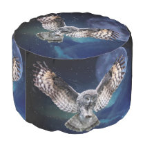 Owl in Flight Pouf