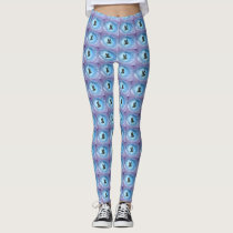 Owl In Flight Print Leggings