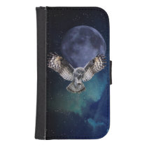 Owl in Flight Samsung S4 Wallet Case