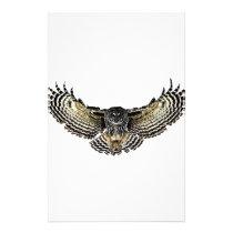 Owl in Flight Stationery