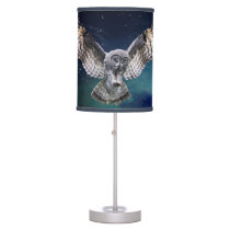 Owl in Flight Table Lamp