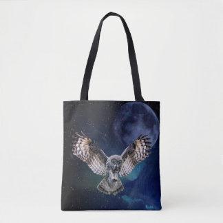 Owl in Flight Tote Bag