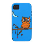 Owl in Heart Tree iPhone 4/4S Cases