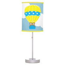 Owl in Hot Air Balloon Table Lamp