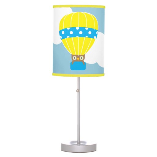 Owl in Hot Air Balloon Table Lamp | Zazzle