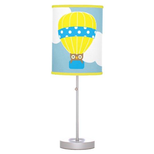 Owl in Hot Air Balloon Table Lamp
